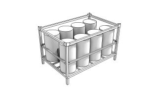 Rastel modular pentru bidoane de apa